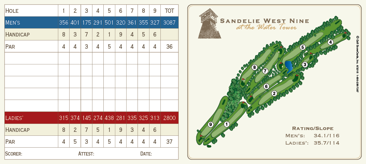 Scorecards sandelie golf course printable scorecard and course map pronofoot35fo Choice Image
